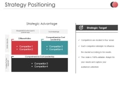 Strategy Positioning Ppt PowerPoint Presentation Infographics Pictures