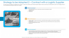 Strategy To Be Adopted 2 Contract With A Logistic Supplier Diagrams PDF