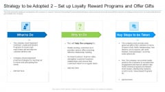 Strategy To Be Adopted 2 Set Up Loyalty Reward Programs And Offer Gifts Graphics PDF