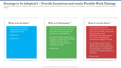 Strategy To Be Adopted 3 Provide Incentives And Create Flexible Work Timings Slides PDF