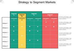 Strategy To Segment Markets Ppt PowerPoint Presentation Styles Shapes