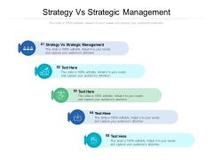 Strategy Vs Strategic Management Ppt PowerPoint Presentation Portfolio Shapes Cpb