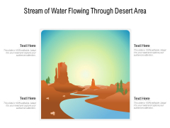 Stream Of Water Flowing Through Desert Area Ppt PowerPoint Presentation File Designs PDF