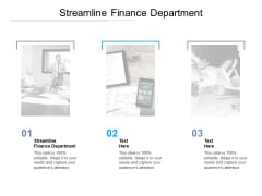 Streamline Finance Department Ppt PowerPoint Presentation File Inspiration Cpb Pdf