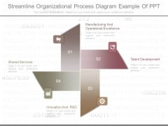 Streamline Organizational Process Diagram Example Of Ppt