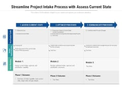 Streamline Project Intake Process With Assess Current State Ppt PowerPoint Presentation Professional Picture