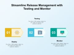 Streamline Release Management With Testing And Monitor Ppt PowerPoint Presentation Ideas Tips PDF