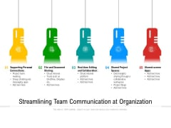 Streamlining Team Communication At Organization Ppt PowerPoint Presentation File Smartart PDF