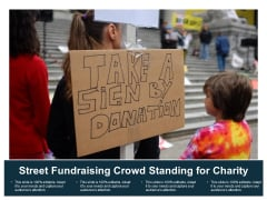 Street Fundraising Crowd Standing For Charity Ppt Powerpoint Presentation Gallery Designs Download