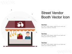 Street Vendor Booth Vector Icon Ppt PowerPoint Presentation Infographic Template Model PDF