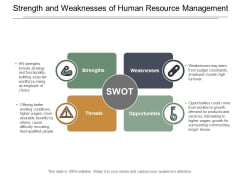 Strength And Weaknesses Of Human Resource Management Ppt Powerpoint Presentation Gallery Microsoft