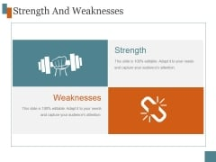 Strength And Weaknesses Ppt PowerPoint Presentation Picture