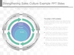 Strengthening Sales Culture Example Ppt Slides