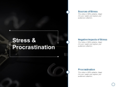 Stress And Procrastination Ppt PowerPoint Presentation Icon Shapes
