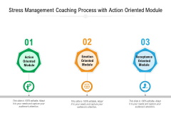 Stress Management Coaching Process With Action Oriented Module Ppt PowerPoint Presentation Slides Mockup PDF