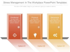 Stress Management In The Workplace Powerpoint Templates