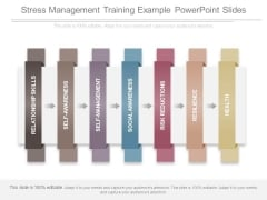 Stress Management Training Example Powerpoint Slides