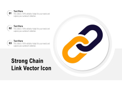 Strong Chain Link Vector Icon Ppt PowerPoint Presentation Gallery Gridlines PDF