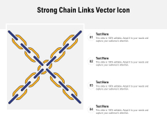 Strong Chain Links Vector Icon Ppt PowerPoint Presentation File Rules PDF