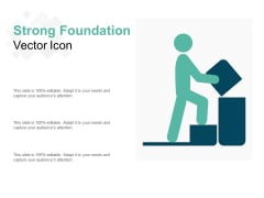 Strong Foundation Vector Icon Ppt PowerPoint Presentation Icon Graphics Example