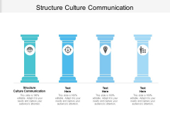 Structure Culture Communication Ppt PowerPoint Presentation Model Graphic Images Cpb