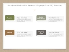 Structured Abstract For Research Proposal Good Ppt Example