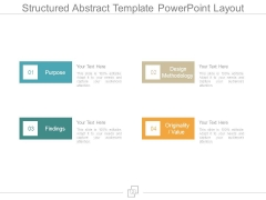 Structured Abstract Template Powerpoint Layout