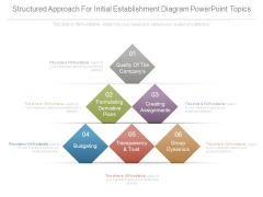 Structured Approach For Initial Establishment Diagram Powerpoint Topics