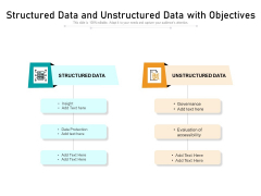 Structured Data And Unstructured Data With Objectives Ppt PowerPoint Presentation Gallery Pictures PDF