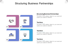 Structuring Business Partnerships Ppt PowerPoint Presentation Outline Background Images Cpb