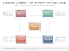 Structuring Corporate Financial Policy Ppt Slides Design