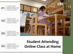 Student Attending Online Class At Home Ppt PowerPoint Presentation Inspiration Design Inspiration PDF