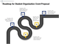 Student Club Event Planning Roadmap For Student Organization Event Proposal Ppt Infographic Template Graphics PDF