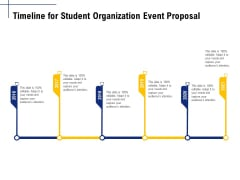 Student Club Event Planning Timeline For Student Organization Event Proposal Ppt Gallery Template PDF