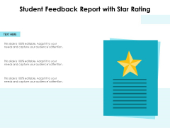Student Feedback Report With Star Rating Ppt PowerPoint Presentation Summary Design Inspiration PDF