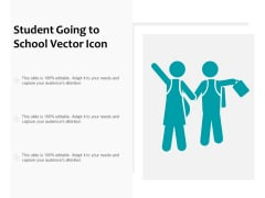 Student Going To School Vector Icon Ppt PowerPoint Presentation Styles Picture