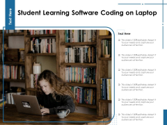 Student Learning Software Coding On Laptop Ppt PowerPoint Presentation File Background Designs PDF