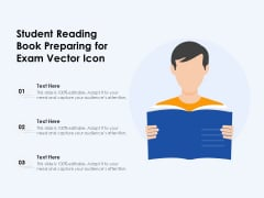 Student Reading Book Preparing For Exam Vector Icon Ppt PowerPoint Presentation File Show PDF