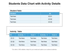 Students Data Chart With Activity Details Ppt PowerPoint Presentation Ideas Infographic Template PDF