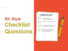 Style Checklist Questions Ppt PowerPoint Presentation Infographics Backgrounds