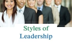 Styles Of Leadership Ppt PowerPoint Presentation Guidelines