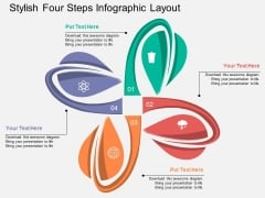 Stylish Four Steps Infographic Layout Powerpoint Template