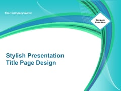 Stylish Presentation Title Page Design Ppt Powerpoint Presentation Pictures Layouts