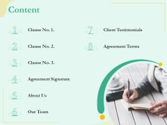 Sublease Agreement Content Ppt Icon Model PDF