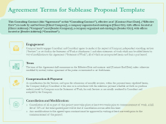 Sublease Agreement Terms For Sublease Proposal Template Ppt Show Slides PDF