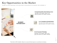 Subordinated Loan Funding Key Opportunities In The Market Ppt Icon Graphics Template PDF