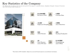 Subordinated Loan Funding Key Statistics Of The Company Ppt Styles Example Topics PDF