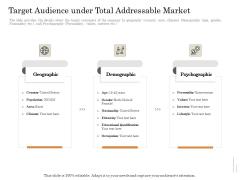 Subordinated Loan Funding Target Audience Under Total Addressable Market Ppt Show Master Slide PDF