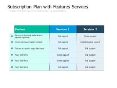 Subscription Plan With Features Services Ppt PowerPoint Presentation Infographic Template Aids