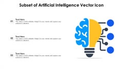Subset Of Artificial Intelligence Vector Icon Ppt Gallery Slideshow PDF